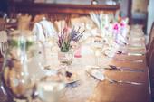 Výzdoba na svatební stůl - juta & starorůžová,