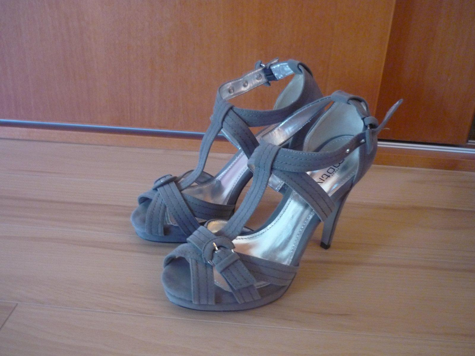 Nenosené semišové sandálky - Obrázok č. 1