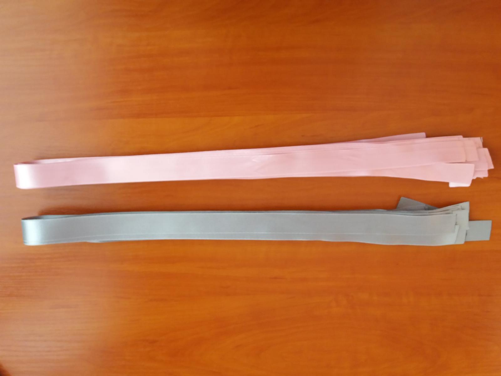 Ružové saténové stuhy - Obrázok č. 1