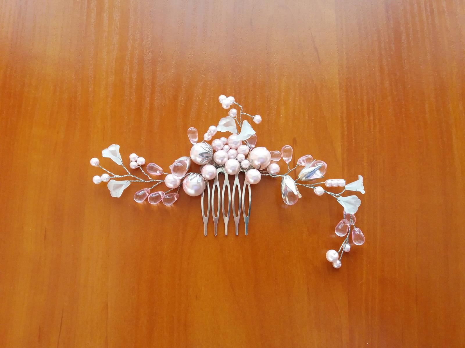 Handmade ozdobný hrebeň do vlasov - Obrázok č. 1