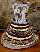 Dekorace na dort - na špejli - pro hnědovlásku,
