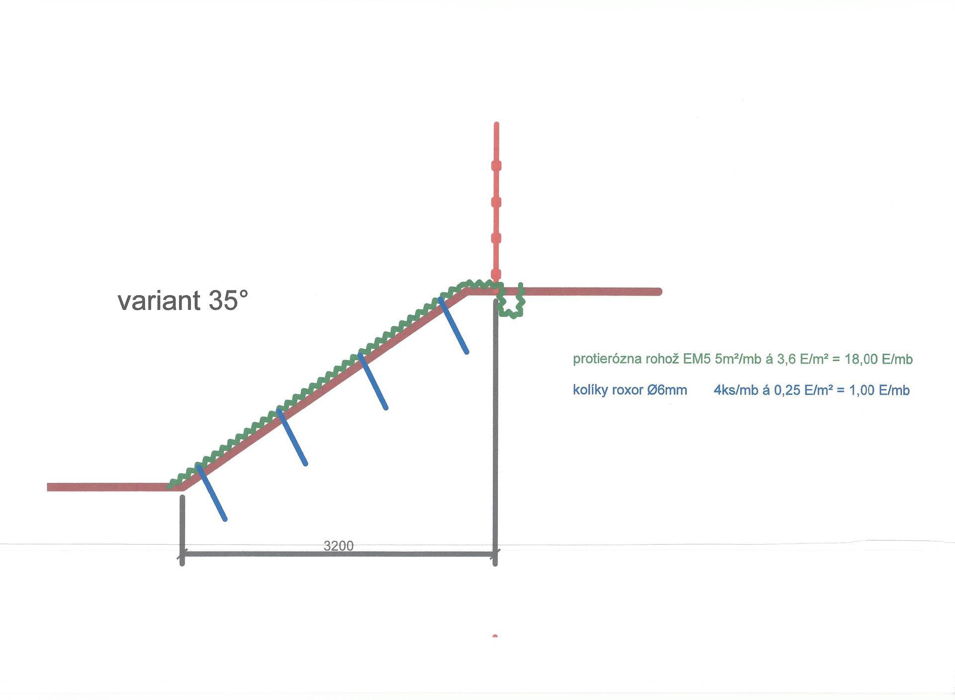 19. SVAH MEDZI SUSEDMI - otázka a odpoveď - 02. Variant s úpravou svahu do 35°.
