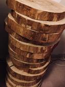 Dekorační pláty dřeva / kulatiny 14ks,