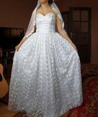 Handmade krajkové svadobné šaty, 38