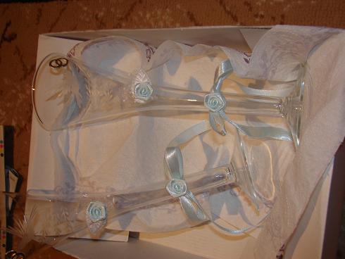 Marek a Maťka - svadobné poháre, trochu poupravované