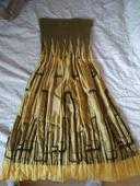 Zlaté šaty, krátké, 36