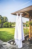 Svatební šaty+pompadůrek,polštářek pod prstýnky , 36