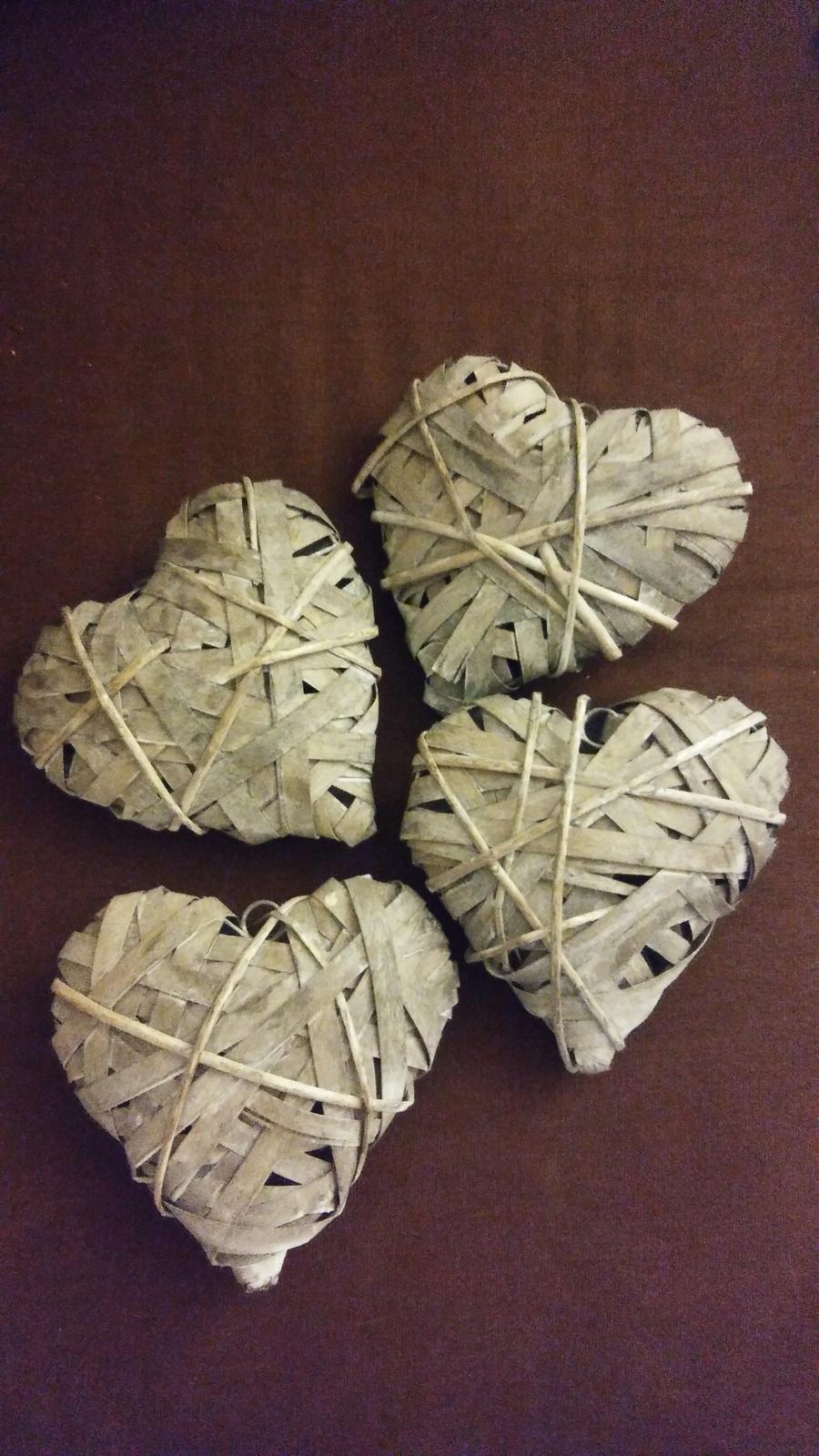 Prírodné srdcia - šírka 20 cm - cena dokopy za 4ks - Obrázok č. 1