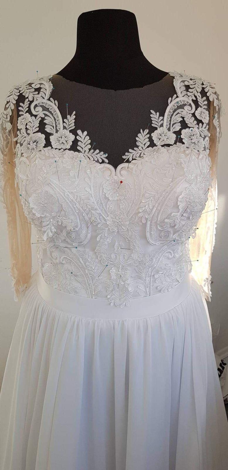 Svadobné šaty v. 46 od Natasha Azaryi - Obrázok č. 3