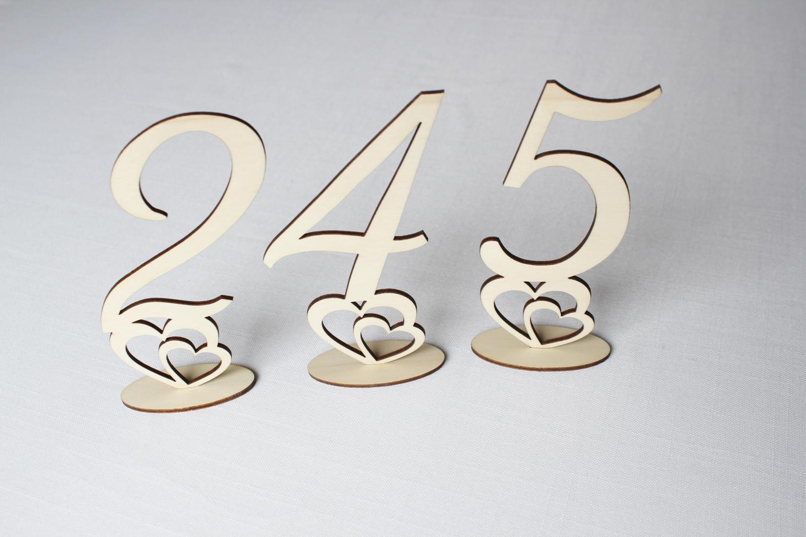čísla na svadobný stôl 15cm - Obrázok č. 1