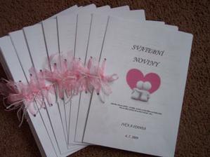 naše konečně hotové svatební noviny:o) PROSÍM NEKOPÍROVAT