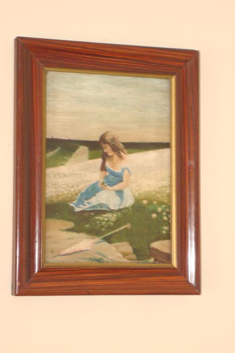 Naše bývanie - pamiatka na moju starkú, tento obraz mala zavesený v obývačke, je to pamiatka na jej otca - on ten obraz maľoval. Zahynul počas druhej svetovej vojny. Moja starká sa vždy na ten obraz s láskou pozerala... a ja sa tiež tak pozerám a spomínam :-)