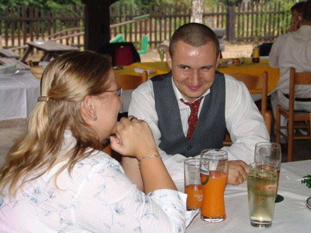 29.9.06 Myšlín - a to jsme my dva na svatbě mého bratrance