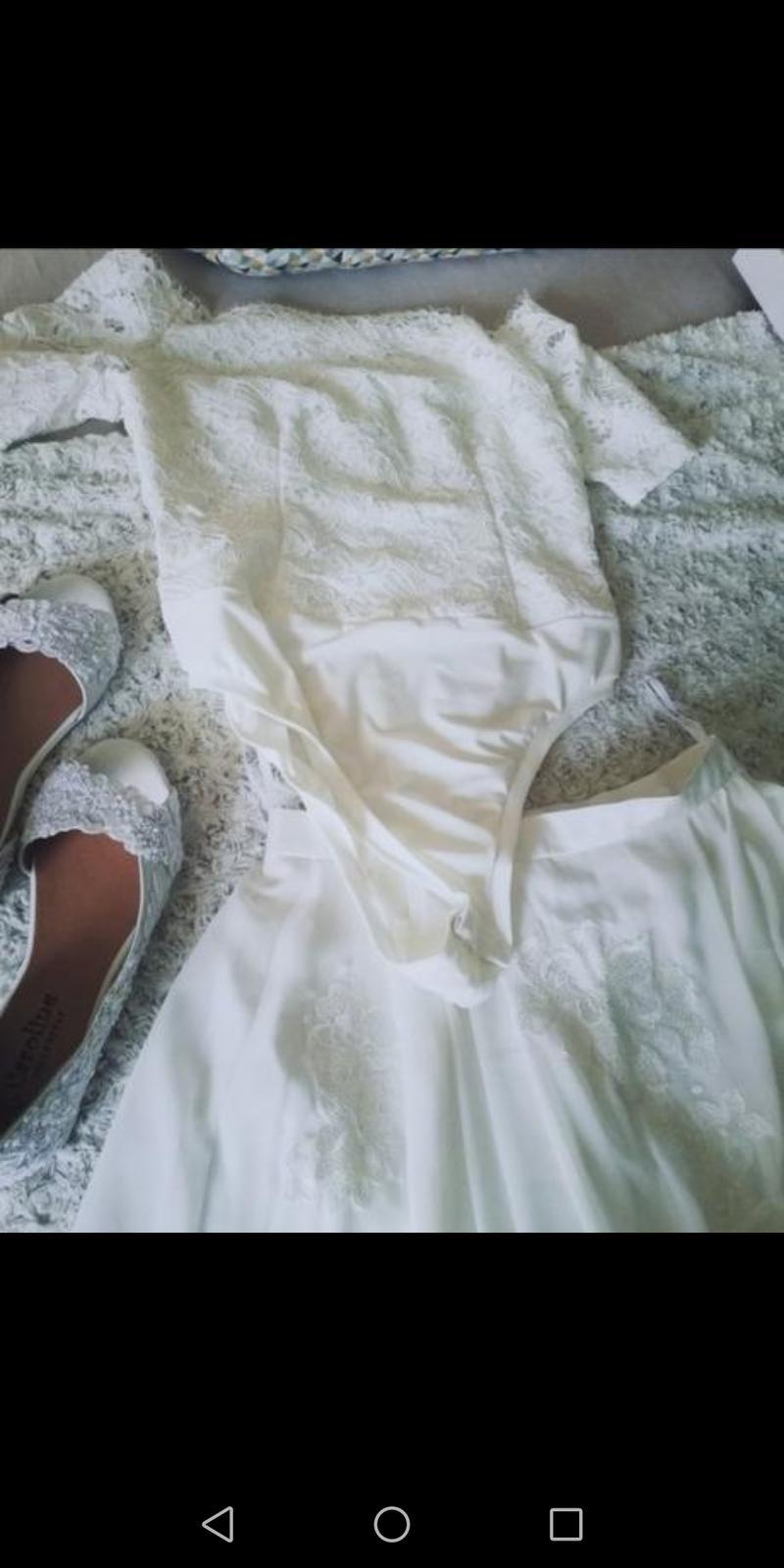 svadobná sukňa a body, veľkosť 40 - Obrázok č. 1