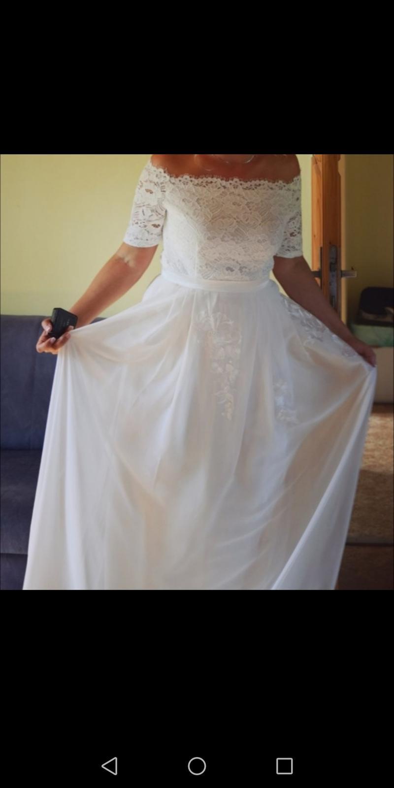 svadobná sukňa a body, veľkosť 40 - Obrázok č. 3
