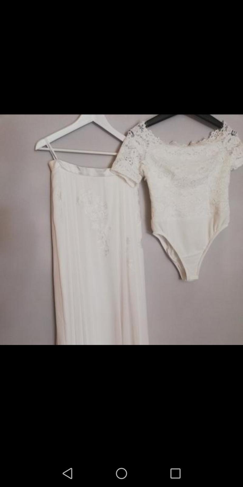 svadobná sukňa a body, veľkosť 40 - Obrázok č. 4