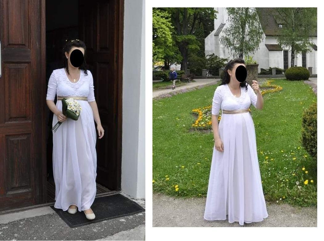 Svatební šaty pro tehotné - Obrázek č. 1