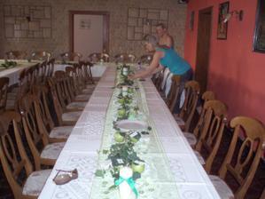 svatební tabule - přípravy