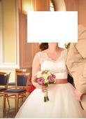 Krajkové svatební šaty velikost 40, slonová kost, 40