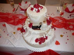 svatební dort, domácí - všem moc chutnal, mňam