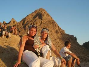 západ slnka na sahare