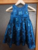 Dětské modré společenské šaty, 98