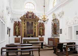 Kaplička zámku, ve které se bude konat svatební obřad