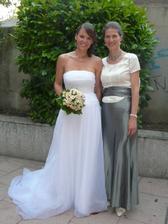 Kamarádce to velmi slušelo, byla krásná nevěsta