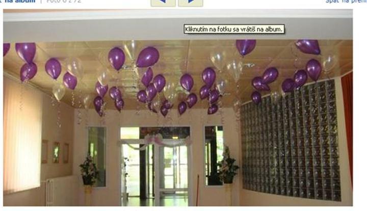 Moje predstavy - héliové balóniky nám dovezú v deň D
