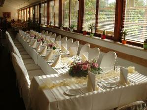 Ukázka svatební tabule (kdyby se v tom náhodou nějaká nevěsta poznala - to mi zaslali přímo z hotelu, nejedná se o zkopírovanou fotku)