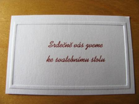 Přípravy - Pozvánka na hostinu...