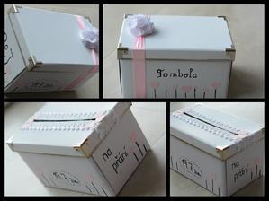 moje krabičky :) -na listky na tombolu a na přáni ♥
