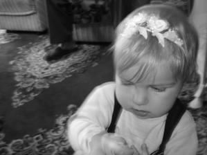 nasa malinka rano toto mala mat dcerka na vlaskoch,no bol unavena a protestovala.