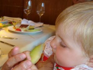dezert bol super Tiramisu s melonom a karamelom chutil aj leonicke
