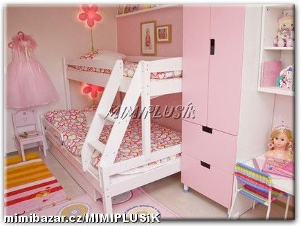 Detska izba bude nasa spalna. - a toto by mala byt postel od Ikea STUVA.
