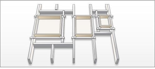 Strednú variantu okno medzi trámy.