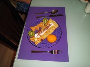 """Palačinky - první kuchařské výtvory """"mé drahé polovičky"""" v naší nové kuchyni... Byla výborná."""