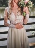 Krajkové svatební šaty - body a sukně , 36