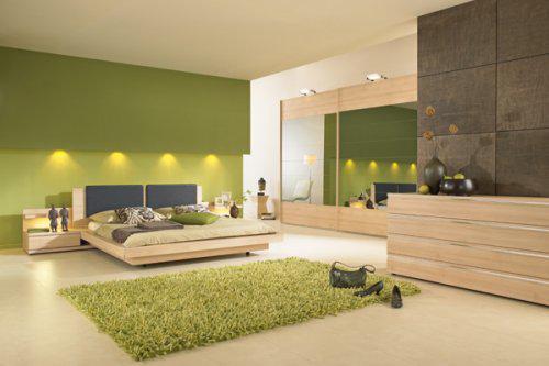 INSPIRACE - Fantastická ložnice! A navíc, zelená přece uklidňuje...
