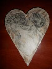 drvene srdce- obrázok na stenu