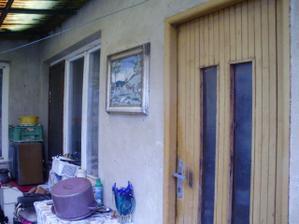 zadný vstup do domu od terasy