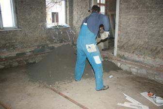 První vrstva betonu (ložnice)