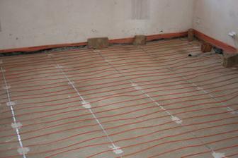 Podlahové topení (ložnice)