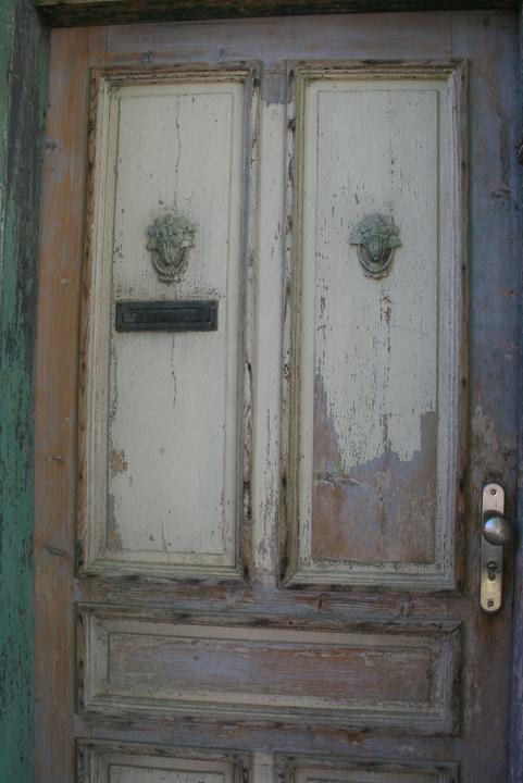 Náš domeček - teď už minulost... - detail vchodových dveří
