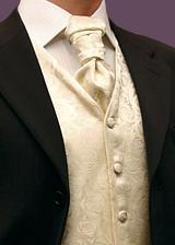 Jen kdyby kravata a vesta byla v jemně zelené nebo fialové...