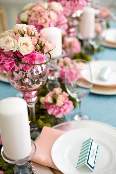 Aqua and coral palette - wedding - Obrázek č. 49