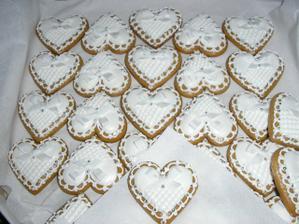 nádherné svatební perníčky...dárek od kamarádky Andrejky