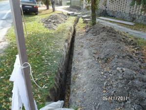 kopeme prípojku na kanalizáciu