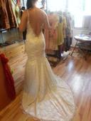 Svatební šaty, holá záda, vel. 36-38, 36