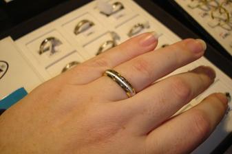 Snubní prstýnek - zkouška
